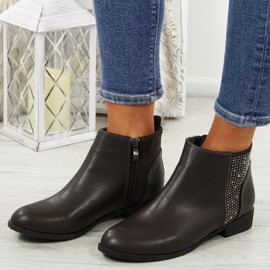 Nipa Brown Pixie Studded Boots