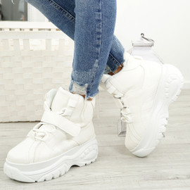 Envory White Lace Up Trainers