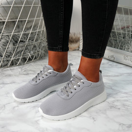 Lanyx Grey Lace Up Trainers