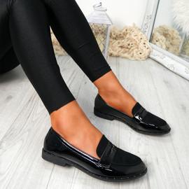 Flinna Black Patent Ballerinas