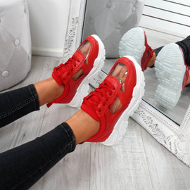 Boppa Red Transparent Trainers