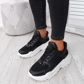 Foya Black Running Sneakers