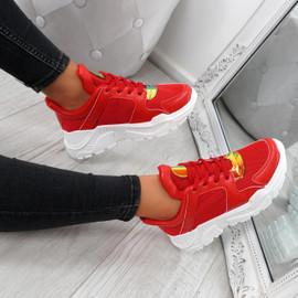 Foya Red Running Sneakers