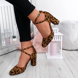 Lasa Leopard Block Heel Pumps