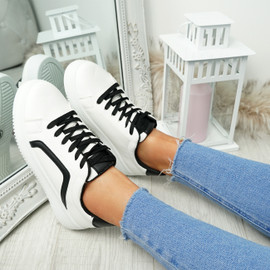 Herry Black Lace Up Trainers