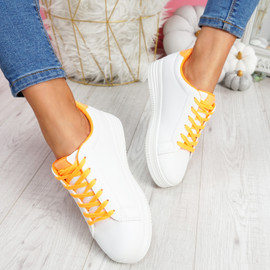 Herry Orange Lace Up Trainers
