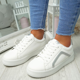 Herry Silver Lace Up Trainers