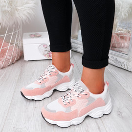 Arianna Pink Chunky Trainers