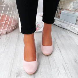 Novia Pink Slip On Court Pumps