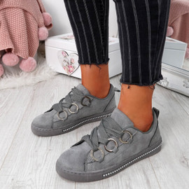 Lutte Grey Lace Up Trainers