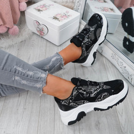 Frozze Black Snake Chunky Trainers