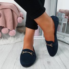 Amma Blue Slip On Ballerinas