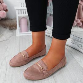 Amma Pink Slip On Ballerinas