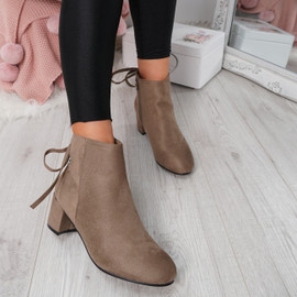Hassa Khaki Zip Ankle Boots