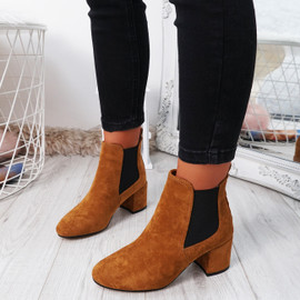 Zenta Camel Chelsea Ankle Boots