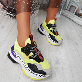 Snappa Yellow Chunky Multicolor Trainers
