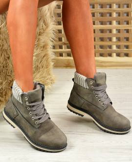 Patricia Grey Ankle Boots