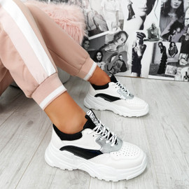 Ollex Black Chunky Trainers