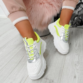 Ollex Green Chunky Trainers