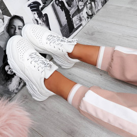 Ollex White Chunky Trainers