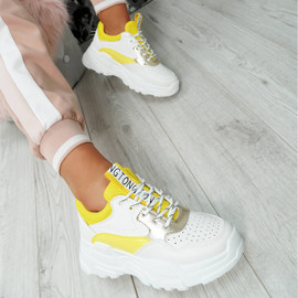 Ollex Yellow Chunky Trainers