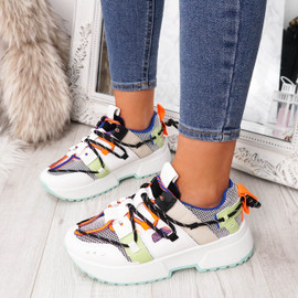 Blue Chunky Trainers Fashion Sneakers for Womens, Ladies, Girls Party Platform Plimsolls for Women Shoes Size Uk 3 4 5 6 7 8