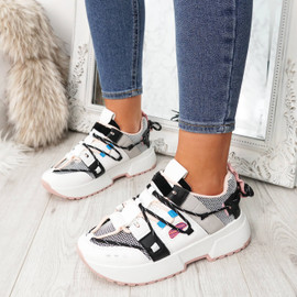 Women Lace Up Chunky Sneakers Ladies Womens Platform Party Fashion Trainers with Free Returns - Size 3 4 5 6 7 8 Available - Buy Now Pay Later with Klarna