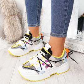 Womens Ladies Chunky Sole Sneakers Party Trainers Platform Shoes Size Uk 3 4 5 6 7 8