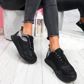 womens ladies lace up platform trainers sport party women shoes size uk 3 4 5 6 7 8