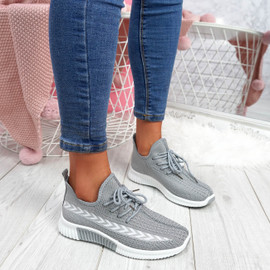 womens ladies lace up chunky sneakears party trainers sport women shoes size uk 3 4 5 6 7 8