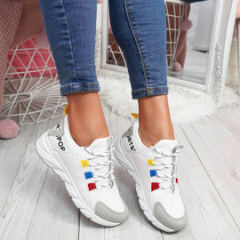 womens ladies lace up chunky party trainers women casual sports sneakers shoes size uk 3 4 5 6 7 8