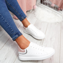 womens ladies lace up plimsolls flat trainers casual comfy sneakers women shoes size uk 3 4 5 6 7 8