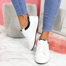 womens ladies lace up plimsolls flat trainers sneakers casual comfy shoes size uk 3 4 5 6 7 8