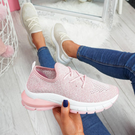 womens ladies slip on chunky party trainers sneakers women casual sporty shoes size uk 3 4 5 6 7 8