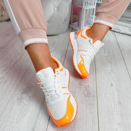 Seffa Orange Chunky Trainers