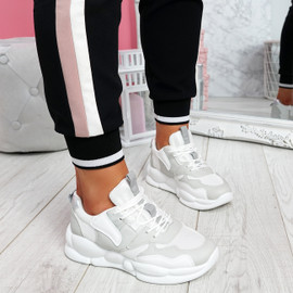 Sima Grey Chunky Sneakers