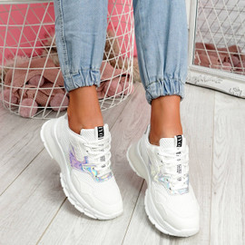 Frimma White Chunky Trainers