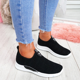 Hegy Black Slip On Trainers