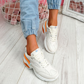 Wenny Beige Chunky Sneakers