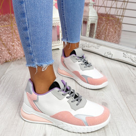 Huppo Grey Multicolor Trainers