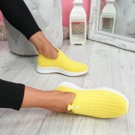 Diffa Yellow Knit Trainers
