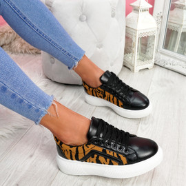 Sirra Camel Lace Up Trainers
