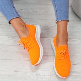 Senny Orange Lace Up Trainers