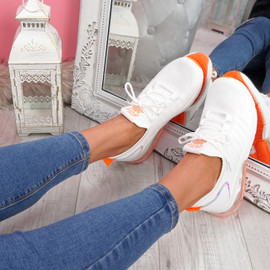 Koddy White Lace Up Sneakers