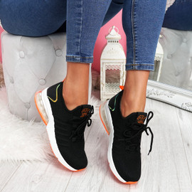Koddy Black Lace Up Sneakers
