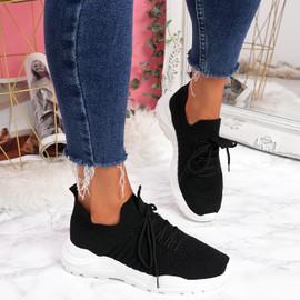 Leppe Black Running Sneakers