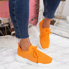 Leppe Orange Running Sneakers