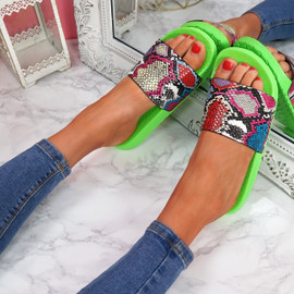Jusso Green Snake Sandals