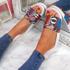 Jusso White Snake Sandals