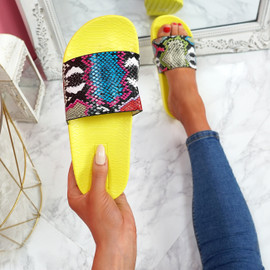 Jusso Yellow Snake Sandals